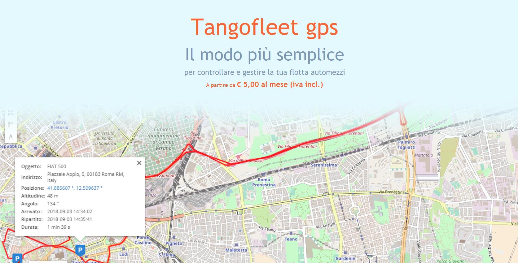 TangoFleet Gps: il modo più semplice per controllare e gestire la tua flotta automezzi.